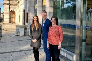 Jo Robinson Regional Director VisitScotland, Chris Foy Chief Executive VisitAberdeenshire and Marie Boulton, Cultural Spokesperson Aberdeen City Council at the launch of the music competition.