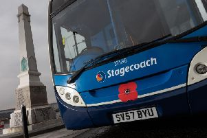 Stagecoach Bluebird will be offering free travelto Armed Forces personnel carrying a military ID card and to veterans wearing the veterans badge.