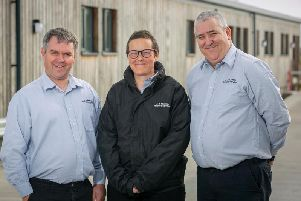 Scott Smith, Kerry Smith and Alistair Speid, directors at A&M Smith'Recycling Services, mark the companys 25th anniversary