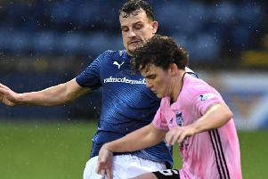 Peterhead boss Jim McInally says a foul on Ben Armour and handball by Kyle Benedictus both went unpunished (pic: Duncan Brown)