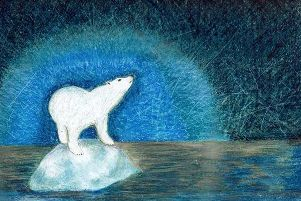 Arctic Polar Bear on Melting Glacier designed by Annie Lennox OBE.