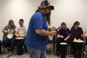 Drumming director, Angus McCurrach as well as being fun, drumming also improves communication and relationship skills as well as general mental wellbeing