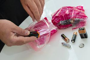 Aberdeenshire Council is urging residents to dispose of batteries correctly to avoid the risk of fire.