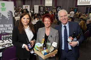 Hannah Beddie, Lucy Husband and Peter Cook at the Thainstone event.