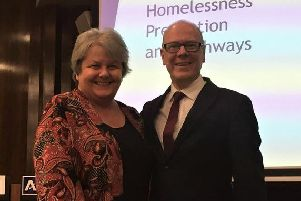 Councillor Anne Stirling and Kevin Stewart MSP