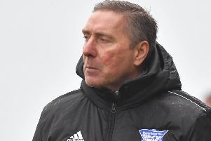 SCOTTISH LEAGUE ONE'EAST FIFE V PETERHEAD'(DUNCAN BROWN)''PETERHEAD' MANAGER JIM MCINALLY