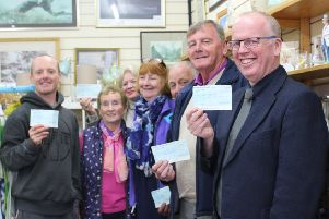 The recipients are pictured with their awards after For Bute disbursed its latest funds.