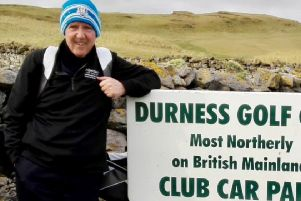 Stuart Macfarlane, Lanark Golf Club member, in 2018 he completed playing all 522 mainland golf courses in Scotland (Submitted pic)