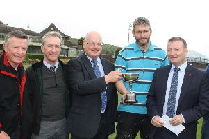 Leighton (third from right) is pictured after winning last year's Bute GC Winter League