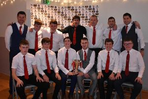 The Bute squad who won last season's Mowi South Division 1 crown to earn promotion