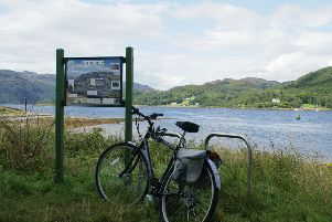 Stock photo of a bike at Balnakailly Bay.