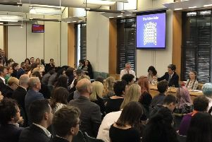 A special parliamentary reception was held  to hear from Greta Thunberg (seated at top table on right), the Swedish 16-year old student climate campaigner.