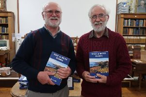 Patrick O'Sullivan (left) President of Bute Museum  and the author of Isle of Bute Flora Angus Hannah (right), pictured at the book launch.