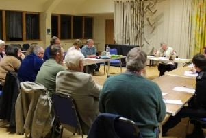 A stock photo of a previous Bute Community Council meeting.