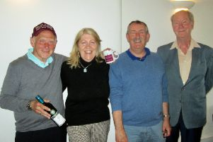 Members of Rotary Club of Rothesay met on the evening of 30 May to contest the annual Putting Competition to win the prestigious 'Claret Mug'.