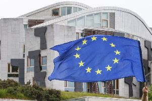 European Union flag outside Holyrood.