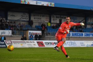 BETFRED CUP 'PETERHEAD V INVERNESS CALEDONIAN THISTLE'(DUNCAN BROWN)''PETERHEAD KEEPER GREG FLEMING SCORES THE WINNING PENALTY