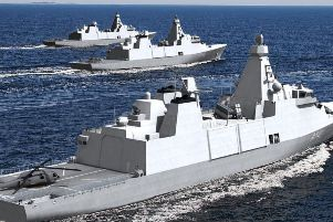 An artist's impression of the new Type 31 Frigate. Picture: Babcock