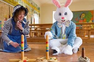 Keep your eyes peeled for the Easter Bunny who'll be giving out goodies.