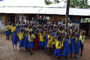St Peters school in Uganda which class teacher Fiona Anderson visited on her trip.
