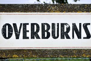 Overburns Farm sign, site of proposed mineral quarry between Lamington and Coulter villages. 'Picture by Lindsay Addison