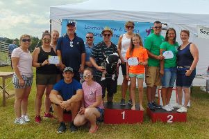 Lesmahagow Young Farmers 75th anniversary field day trophy winners