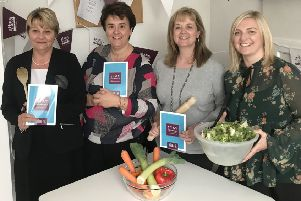 Pictured at the launch of Home Instead's Stay Nourished Campaign are (from left) Gill Coltart, Cath Rea, Karen Meikle and Anita Elliot.
