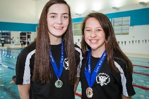 Shiona and Millie with medals