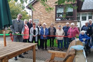 The Provost opens the new outdoor area at Smiddy Court Lanark