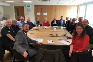 All smiles at the 'constructive' meeting to discuss ambulance response times