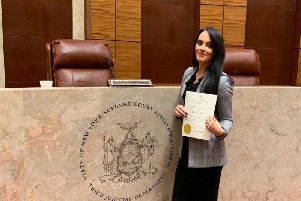 Carlukes Ashley Paterson in her new workplace, a New York courtroom