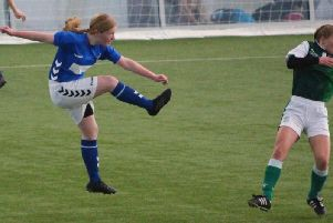 Carlukes Rosie in action during final victory over Hibs (Submitted pic)