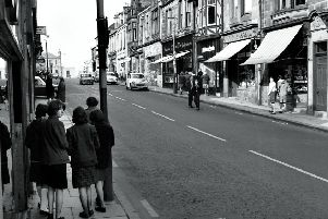Carluke High Street in its post-war 'Golden Days' when it contained four Brooks branches.
