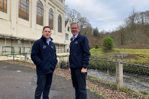 Drax Power boss Andy Koss (left) with Will Gardiner, CEO of sister firm Drax Group at Stonebyres.