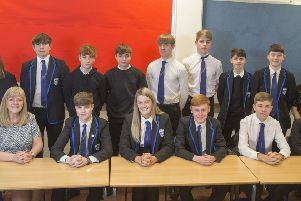 On the right road...to employment, senior pupils at Carluke High School were given a helping hand by recruitment experts Helen Salt and Cameron Shearer thanks to funding provided by UKSE.