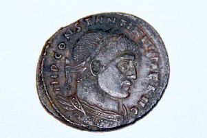 Roman coin found at Libberton