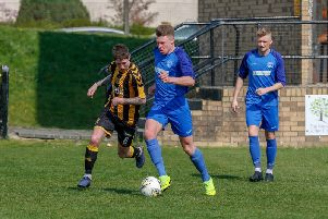 Rovers' Craig Grierson in action at Auchinleck Talbot (Pic by Kevin Ramage)