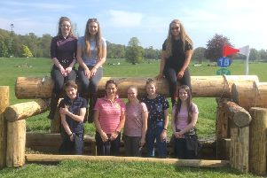 Touring students (top row, from left) Eily Andrews, Samantha Muir, Sarah Dunbar. Bottom row (from left) Melissa Beale, lecturer Gillian Turnball, Julie Isherwood, Amy Black and Emily Stewart.