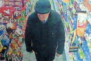 Anthony Hanlon was recorded on the Spar's CCTV