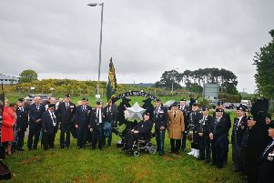 Cameronian statue unveiled at Winston Barracks Lanark May 2019