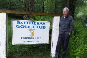 Stuart Macfarlane played Rothesay golf course last Wednesday (Submitted pic)