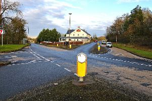 The Leadburn junction, north east of West Linton.