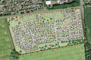 The planned layout for residential development at Crawfield Road, Bo'ness.