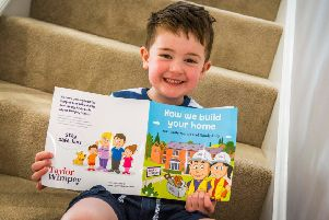 Every child at this year's storytelling events at Penfest 2019 will receive a free copy of Taylor Wimpey's 'How we build your new home' book.'Picture Copyright Chris Watt.
