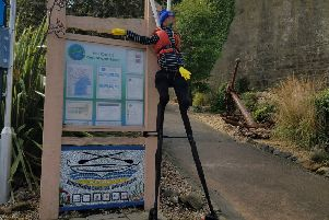 The Scarecrow Trail in Kinghorn is open from Saturday 24th August until Sunday 1st September. Pictured is this year's entry from Kinghorn Coastal Rowing Club.