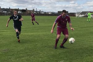 Aaron Leadbetter starts another move up the park for Cupar Hearts