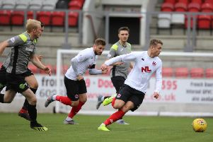 Mark Lamont in action during Clyde's win over Stranraer (pic: Craig Black Photography)