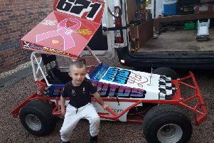 Stock car sensation James Russell is taking on and beating youngsters up to four years older than him (Submitted pic)