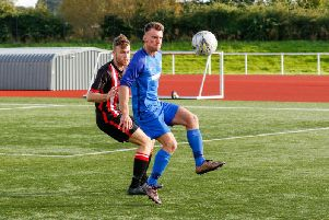 Action from Saturday's clash (Pic by Kevin Ramage)