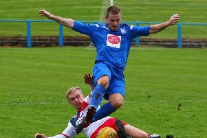 Lanark United striker Ian Watt cant wait to take on the might of Auchinleck Talbot this Sunday